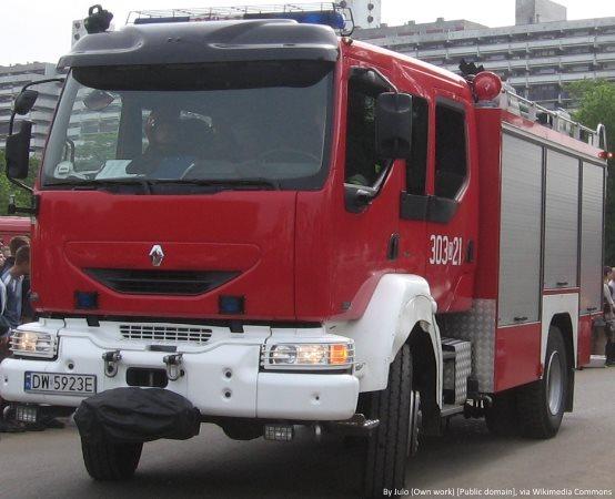 KMPSP Jaworzno:  Pożar składowiska odpadów